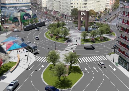 Por cerca de 1'5 millones de euros, la junta de gobierno local adjuntó las obras de Praza de América.