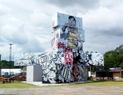 La artista ha decorado fachadas en calles de Europa, América y Asia a base de naturaleza y rostros.