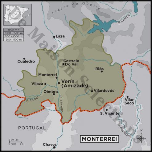 La Denominación cuenta con 26 bodegas del Valle de Monterrei y 418 viticultores que trabajan en 579 hectáreas.