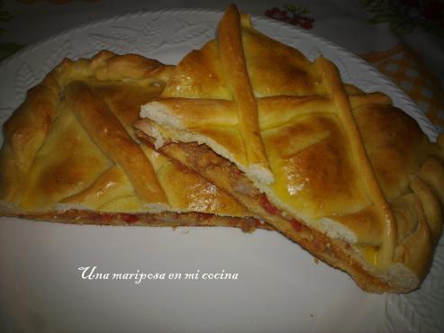 Empanada gallega de zorza con manzana