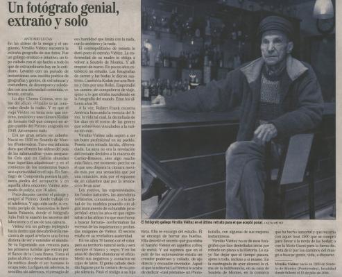 Virgilio Viéitez Bértolo, el mejor retratista de la realidad de una comarca.
