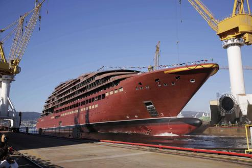 El megacrucero que está construyendo Barreras pasará a la historia por ser el primero que se hace en España. Mide 190 metros de eslora.