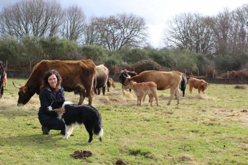 Sonia Vidal, que xestionará a área de mulleres na coordinadora europea La Vía campesina, defende a soberanía alimentaria e o coidado do medio ambiente que dá este modelo.