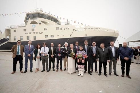 El buque es el segundo de esta serie de dos avanzados arrastreros dotados con equipos de última generación, que se dedicarán a la pesca de la gamba en aguas árticas.