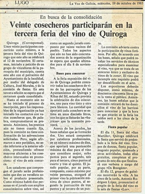 La Feria del vino de Quiroga, no es la mas famosa, pero es la mas antigua.