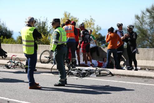 Las víctimas del atropello por parte de un vehículo, conducido por un octogenario, a un grupo de ciclistas ocurrido en A Guarda, en la carretera PO-552, el día 12 de marzo de 2016, con resultado de 2 muertos, 6 heridos graves y 3 heridos leves.