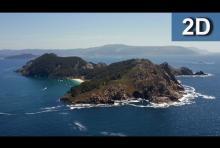 Islas Cíes y la mejor playa del mundo, la Playa de Rodas. (Versión 2D).