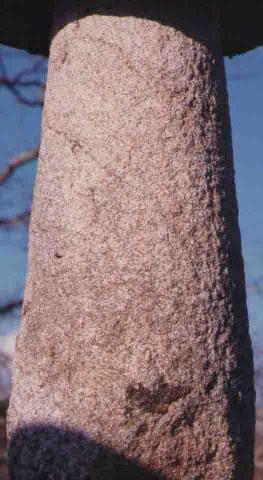 Soporte pies de piedra