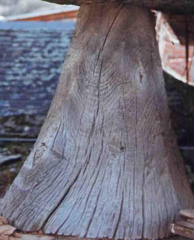 Soporte pies de madera